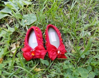 Red Ruby flat shoes