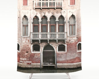 Venice Shower Curtain, Italy Shower Curtain, Italy Decor, Photo Shower Curtain, Venice Photography, Fabric Shower Curtain, Housewarming Gift