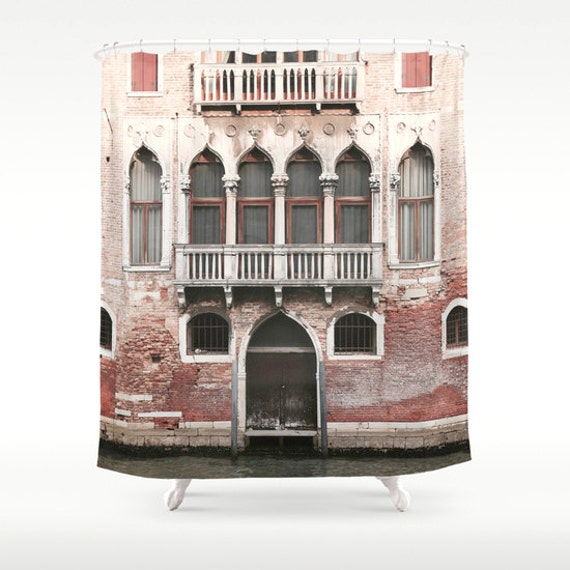 Items similar to venice shower curtain italy shower for Bathroom accessories made in italy