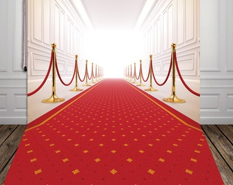 Red carpet Vinyl Backdrop,Photography vinyl background photo prop XT-2734