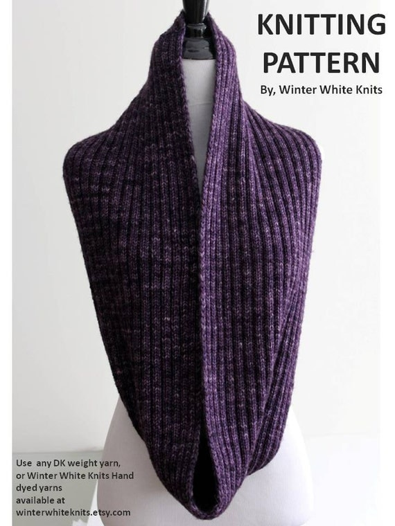 Pattern knit scarf PDF Instant Download Knitting Pattern