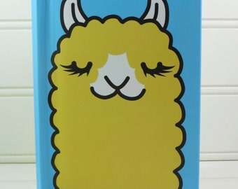 Cute Notebook, Llama Notebook, Alpaca Journal, Hardcover Notebook, Girls Notebook, Boys Notebook, Lined Notebook, Kawaii, Back to School