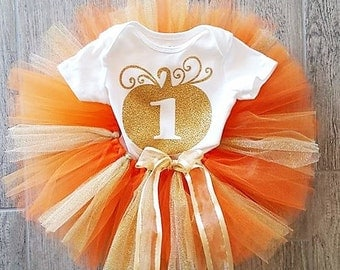 1st birthday pumpkin outfit/1st Birthday fall outfit/pumpkin 1st birthday outfit/fall birthday clothes/pumpkin birthday outfit/birthday girl