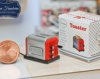 Miniature Toaster classic (various colors) - handmade Dollhouse 1:12 scale appliance