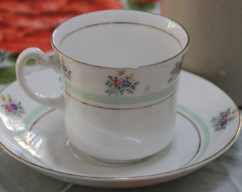 "Vintage Longton ""Vale"" China Tea Cup Set"