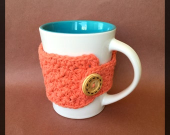 READY TO SHIP!! Coral Cup Cozy