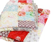 Boho Style Quilt by Textillmanufacture, Modern Quilt, Multicolour Quilt, Bedspread in boho style