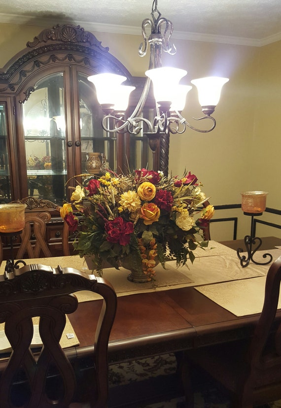 Foyer Table Flower Arrangements : Floral arrangement xl centerpiece by
