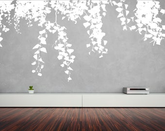 Willow Tree Branches Falling Down Removable Wall Décor Decal Vinyl Sticker