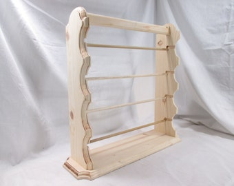 Elegant Ribbon Organizer Rack With Carry-Handle ~ Unfinished