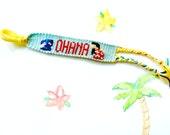 Handmade Lilo and Stitch Friendship Bracelet/ Handmade Ohana Friendship Bracelet
