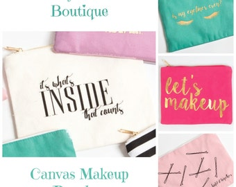 Cute Canvas Pouches
