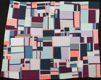 "Art Quilt, Quilt Art, Wallhanging. Motif #24. 32""H x 40""W. Pieced and quilted in 100% cotton, hanging sleeve."