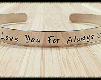 Cuff Bracelet ~ Nickel Silver ~ Hand Stamped ~ Personalized with your Custom Saying, Names, Dates