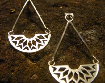 Silver Handmade Long Earrings