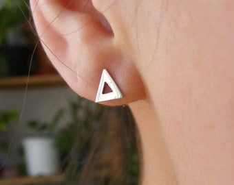 Triangle Silver Handmade Earrings