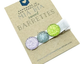Sparkly Rainbow Hair Clip Barrette