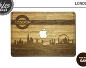 Real Wood Skin for Macbook Pro and Air  London Skyline  OAK  free shipping worldwide