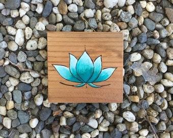 Turquoise Lotus Wall Hanging