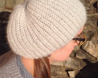 Mohair wool hat ice