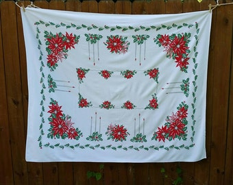 Christmas vintage tablecloth. 60's???