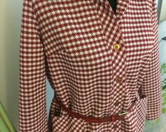 Vintage plaid jacket. Medium- size 6-8