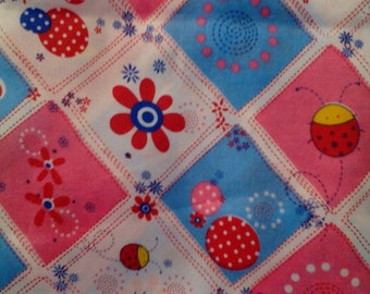 Vintage Flower Bug Patchwork Fabric Unused 2 + yard