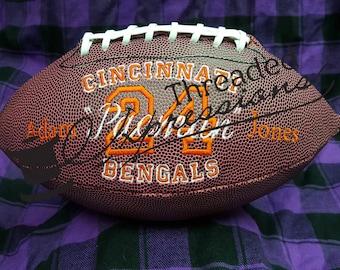 Custom Embroidered Footballs