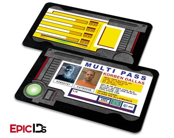"""The Fifth Element Inspired """"Korben Dallas"""" Multi Pass w/Electronic Holder Effect"""