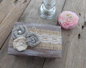 Ring box of shabby flowers ring box/wedding/ring box/wedding