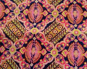 1 Yard Vintage Cranston Print works Fabric
