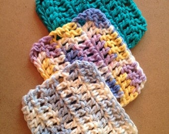 Mini washcloth; makeup remover; bath products; facial cleaner; face scrubbie; Ready to Ship; free shipping US & Canada