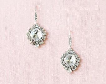 Enchanted Crystal Drop Earrings, Wedding Earrings, Bridal Earrings, Crystal Bridal Earrings, Bridal Earrings Swarovski, Drop Earrings,