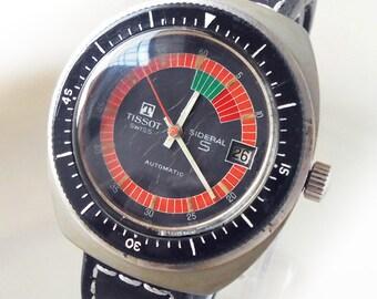 Retro Vintage TISSOT SIDERAL S Automatic Watch - FIBERGLASS Case