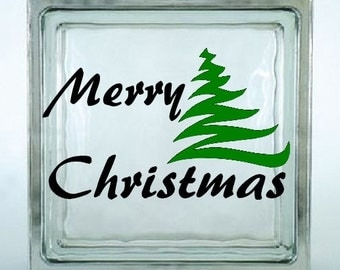 Merry Christmas Decal Sticker ~ Choose Decal Colors - No Background