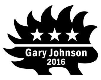 Gary Johnson 2016 Porcupine - Outdoor Vinyl