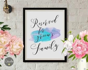Reserved sign, wedding reserved sign, reserved, wedding signs, reserved wedding sign, wedding print, wedding printables, wedding signage