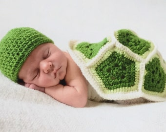 Newborn Turtle Photo Prop Set