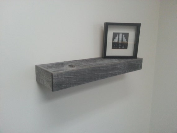 Floating Shelves Made From 65 Year Old Grey Barn Board