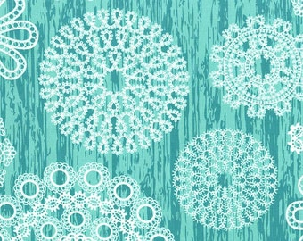 Knots and Loops in Turquoise, Brambleberry Ridge Collection by Violet Craft for Michael Miller Fabrics