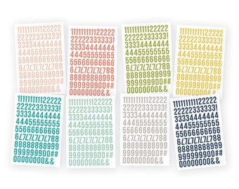 Carpe Diem number stickers