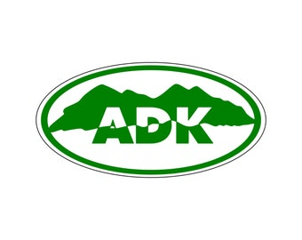 Adirondack Mountains Decal Sticker ADK Mountains Upstate New York Car Decal
