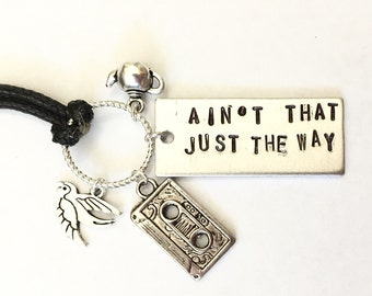 "Over the Garden Wall Inspired Stamped Necklace - ""ain't that just the way"""