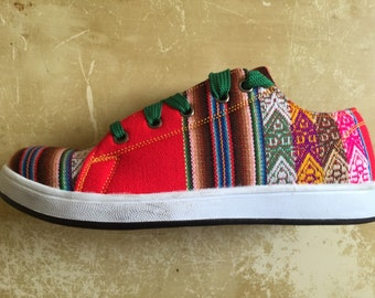 Pancho's Footwear - Red Low Top Sneakers