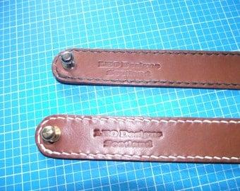 Rosewood Buffalo Stitched leather bracelet