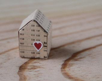 DIY  PDF,  4 maisons de papier miniature, patron, gabarit, téléchargement immédiat.