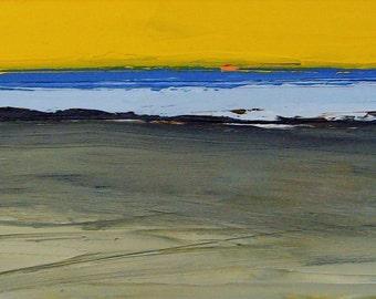 SUN SEA SHORE, Anglesey. Original Oil Landscape Painting.