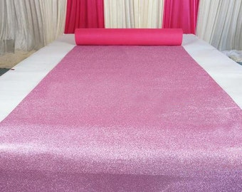Pink Glitter Leather Fabric For Wedding Aisle Runner,Stage Runner,Width 3/3.5/4/4.5 feet,Sold By 15 feet Or Customised Length