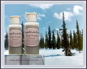 Tooth Powder with Charcoal, Bentonite Clay Clove, Cinnamon, Peppermint