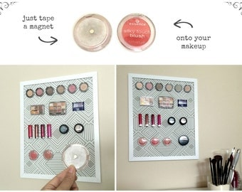 DIY Magnetic Makeup Organizer / Magnets for Makeup Display / Magnetic Makeup Board / Strong Magnets